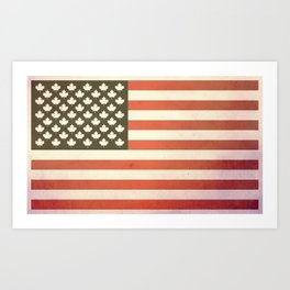 United States of Canada (Faded) Art Print