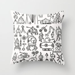 Retrofuturismo Throw Pillow