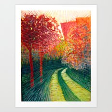 The Path Takes You Art Print
