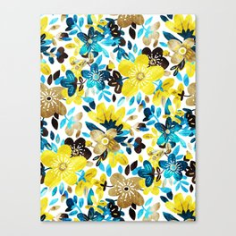 Happy Yellow Flower Collage Canvas Print