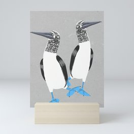 Blue-footed booby Mini Art Print