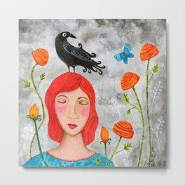 Beautiful Memories - Crow Metal Print