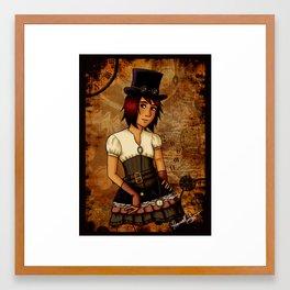 Steampunk Toni Framed Art Print