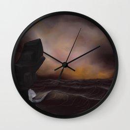 A Stormy Ocean Wall Clock