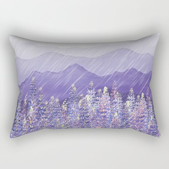 Purple Rain  Rectangular Pillow