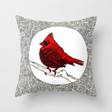 A Red Cardinal Throw Pillow