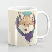 jon snow Mugs featuring Fox by Laura Graves