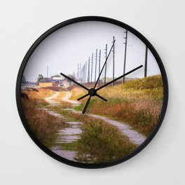 The undiscovered road Wall Clock