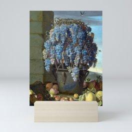 Luca Forte Still Life with Grapes and other Fruit Mini Art Print
