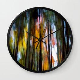 Blurred Trees Wall Clock