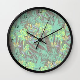 Tropical Paradise: Jade Jungle Wall Clock