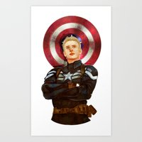 steve rogers Art Prints featuring Steve Rogers by chazstity