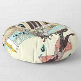 THE GIRL'S HAT Floor Pillow