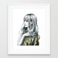 sound Framed Art Prints featuring sound by Shusei Mochizuki