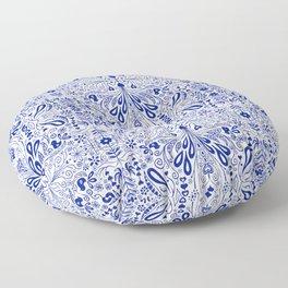 Chinoiserie Folk Seamless Pattern Floor Pillow