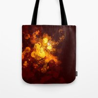 gold dots Tote Bags featuring Dots by Eponine