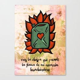 Huachicolero heart Canvas Print