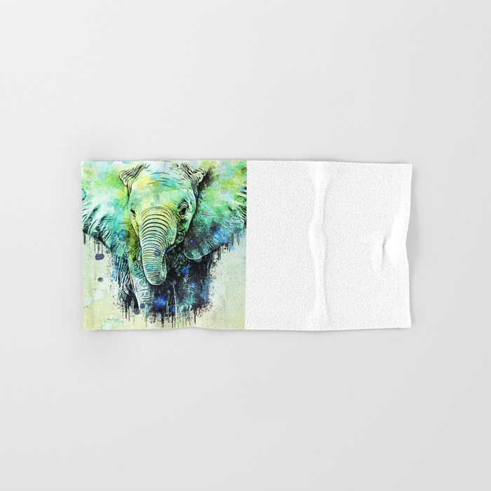 watercolor elephant Hand & Bath Towel