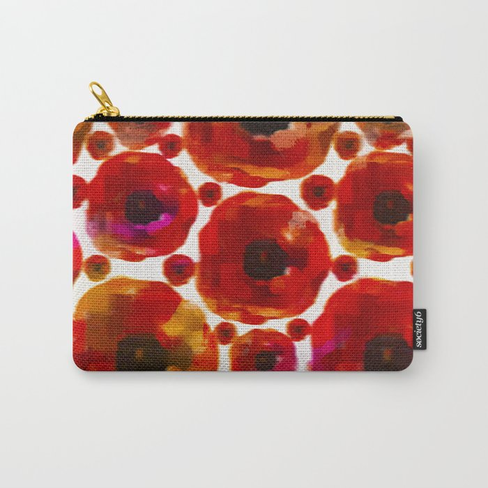 Abstract poppy floral pattern Carry-All Pouch