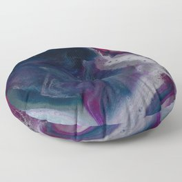 In Bloom - Resin art Floor Pillow