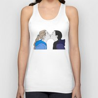girly Tank Tops featuring Girly kiss by VikaValter