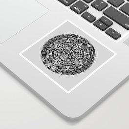 Mayan Calendar // Light Grey Sticker