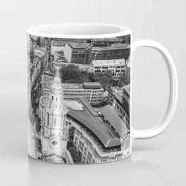 Black and White London Aerial View - United Kingdom Coffee Mug