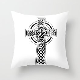 Celtic Knot Cross Tattoo Throw Pillow
