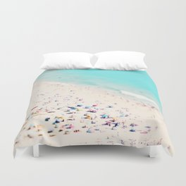 beach love III square Duvet Cover