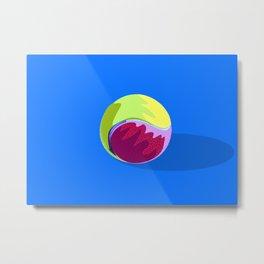 Pelota de tenis Metal Print
