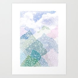 Multicolour Magic Mountains Art Print