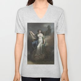 Calliope, Muse of Epic Poetry by Charles Meynier Unisex V-Neck