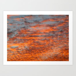 Catharsis in the Clouds Art Print