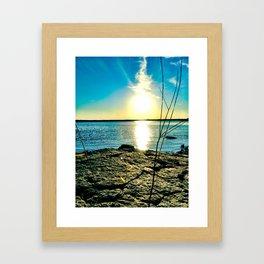 The Smoking Sun  Framed Art Print