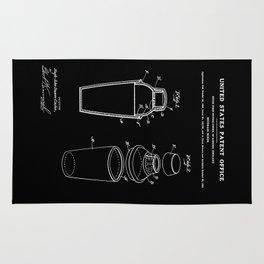 Cocktail Shaker Patent - Black Rug