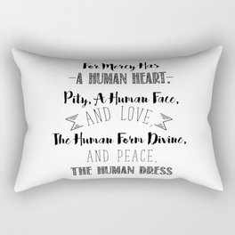 The human form divine, and peace, the human dress - Divine Mercy Sunday Rectangular Pillow
