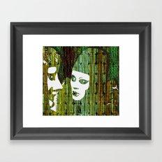 LOVE BETWEEN MASKS Framed Art Print