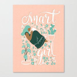 Smart Girl - v4 Canvas Print