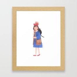 Kiki and Jiji Framed Art Print