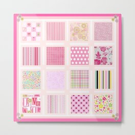 The Pink Quilt Metal Print