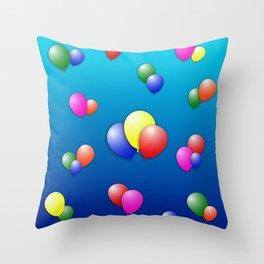 Balloon Fun Throw Pillow