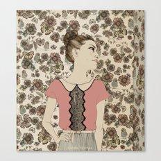 Vintage Girl Canvas Print