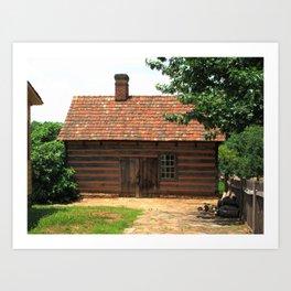 Winston-Salem, NC - Old Salem Cottage 2009 Art Print