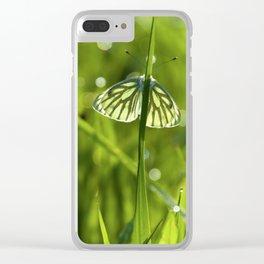 Butterfly in fresh morningmeadow Clear iPhone Case