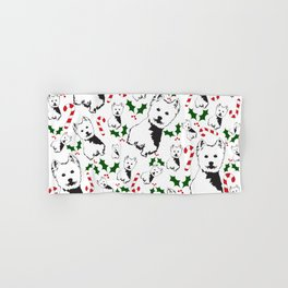 WEST HIGHLAND TERRIER CHRISTMAS GIFTS WRAPPED FOR ALL Hand & Bath Towel