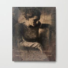 disappear until mourning.. Metal Print