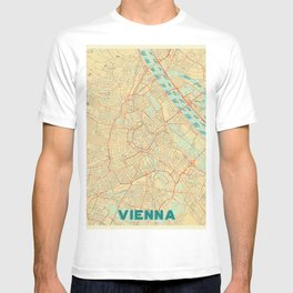 Vienna Map Retro T-shirt