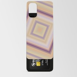 rotated square caro in pastel colors Android Card Case