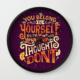 Thoughts are only thoughts Wall Clock