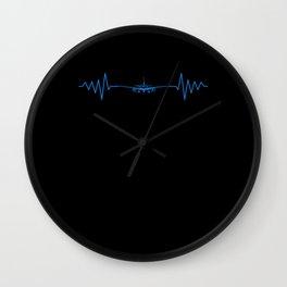 Heartbeat Navigation Airport Pilot Wall Clock